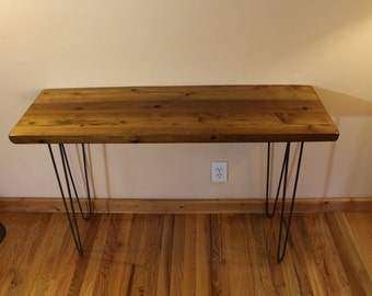 Industrial Wood Console Table