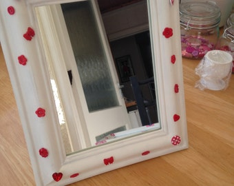 Hand decorated mirror