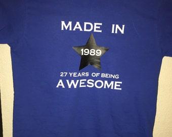1989 awesomeness shirt