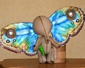 MAKE TO ORDER - The Elephant And The Dream - Art Collectible Toy - Magic Elephant - Butterfly Wings Elephant - Butterfly Wings - Fairy Tale