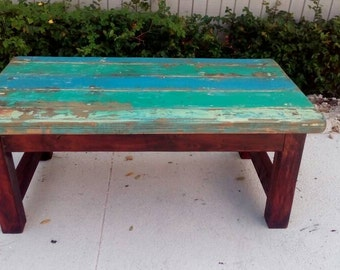 coastal style coffee table distress painted reclaimed wood coffee table cottage style living room