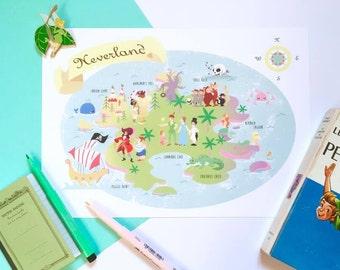 Neverland Peter Pan card printing A4