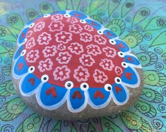 Beautiful flowers Rocks Art