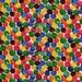 The very hungry caterpillar fabric - 100% Cotton fabric - Eric carle fabric - Quilting fabric - Childrens fabric - Rainbow polka dot fabric