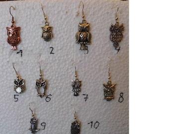 Single earrings OWL