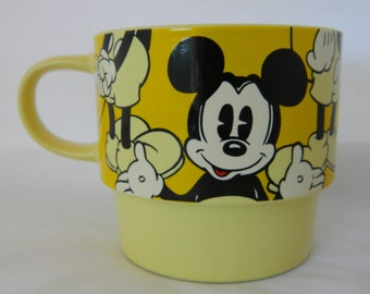 Mickey Mouse Mug, Mickey Mouse Coffee Cup, Disney Mug, Disney Coffee Cup, Vintage Ceramic Mug, Mint Green, Vintage Coffee Mug