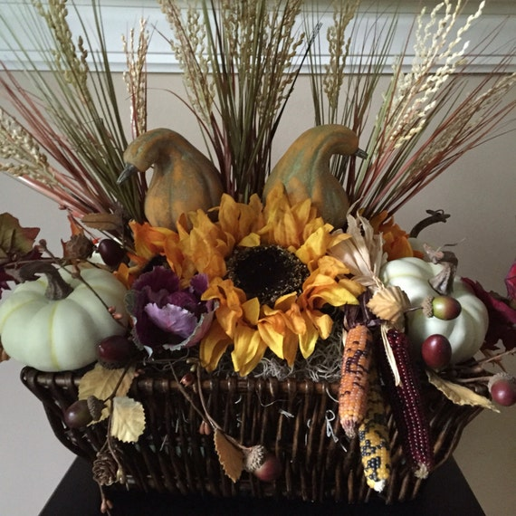 Thanksgiving centerpiece large fall autumn