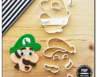 Cookie Cutter Luigi / Set fondant