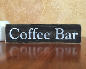 Cute small coffee bar sign
