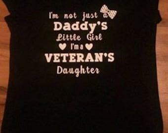 Daddy's Little Girl/Veteran's Daughter V-neck Shirt