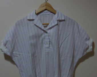 White shirt with stripes. Vintage. Made in U.S.A. size M.