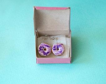 Swirl doughnut earrings