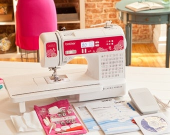 NEW Brother CX155LA Laura Ashley Computerized Sewing Machine + DVD 155 Stitches