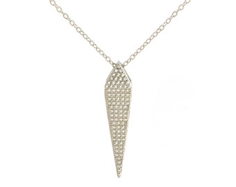 Geometric Shape Micro Pave Necklace