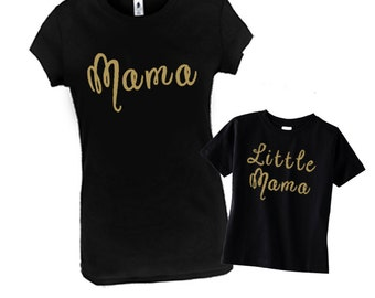 Mommy and Me Matching Outfit, Matching Mother Daughter Outfit, MomLife Shirt, Mama and Little Mama, Mother and Daughter Matching Shirts