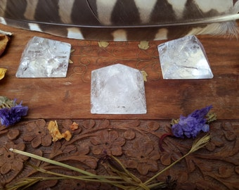 Clear Quartz Crystal Pyramid, Metaphysical, New Age, Divination, Altar