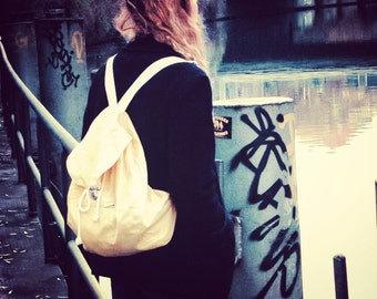 Handcrafted backpack, made out of vintage jacket - shop name: dear3am
