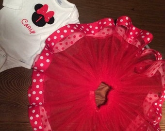 Minnie mouse pettiskirt birthday outfit