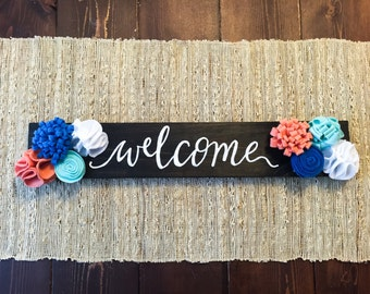 WELCOME Wood Sign Wall Art