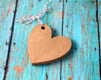 Heart Gift Tags, Die Cut Paper Tags, Wedding Wish Tags, Favor Tags, Hang Tags