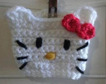 Crochet Kitty Drink Cozy