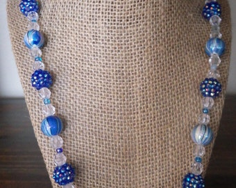 Sky Blue Beaded Necklace