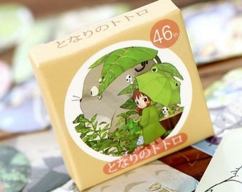 "Stickers cute characters of ""My Neighbor Totoro"""