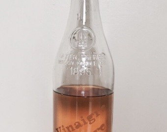 Vintage vinegar bottle