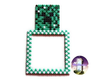 Minecraft Creeper Decoration Switch/Wall Outlet Video Games [Pixel Art Hama Beads]