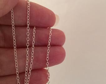 Sterling Silver Chain- Sterling Silver Chain Necklace-Silver Chain Necklace-16 inch-18inch-20 inch-24 inch-Silver Necklace- Delicate Chain