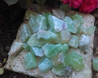 5 green calcite Mexico natural calcite mexico Crystal healing crystals raw crystal natural calcite acid washed calcite raw mineral specimen