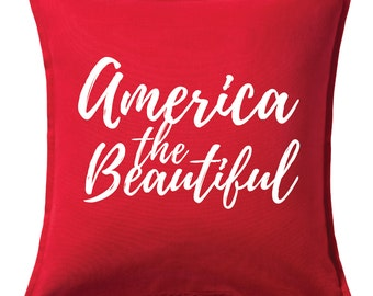 America the Beautiful Pillow Cover