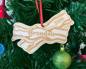 Bacon ornament etsy for Bacon christmas tree decoration
