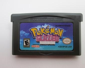 Pokemon Glazed gba fan made cartridge hack saves gameboy advance