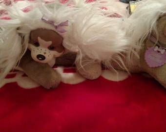 Lot of 2 Vintage Puppy Surprise Dogs