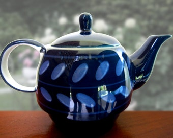 Tea pot - ceramic (blue)
