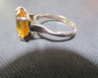 Ring, Women's' Sterling Silver and Citrine