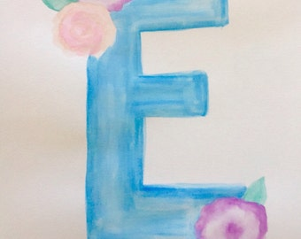 Customized Letter watercolor