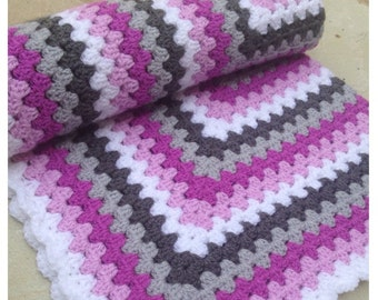 Lovely hand crafted baby blanket