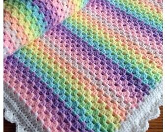 Rainbow Baby Blanket Etsy