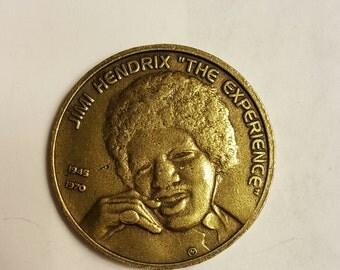 Jiminy hendrix & janis joplin commemorative coin