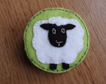 White Sheep brooch