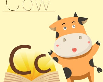 Illustrator of Cow vocabulary