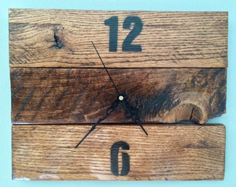 Clock, Wood Clock, Wall Clock, Wall Decor