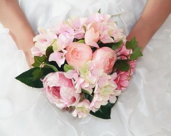 Peony Hydrangea Bridal Bouquet