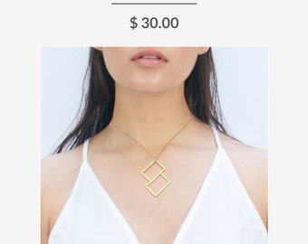 Slant Box Necklace