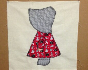 4 Cat Dress Sun Bonnet Sue Vintage 30's pattern Quilt Squares