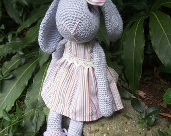 Crochet, Crocheted bunny rabbit. 37 cm.