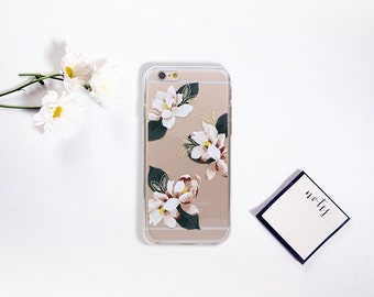 Flower iPhone 7 6 6S Case Floral Clean Transparent Pattern