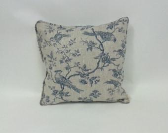 Cushion cover - Botanica Bird John Lewis/100% linen - 50x50cm/20x20 inch